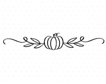 Pumpkin flouish SVG cutfile, Thanksgiving Autumn clipart