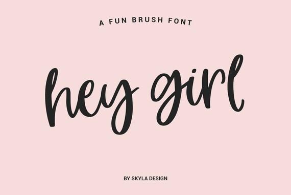modern brush font fun font bold font download digital font etsy