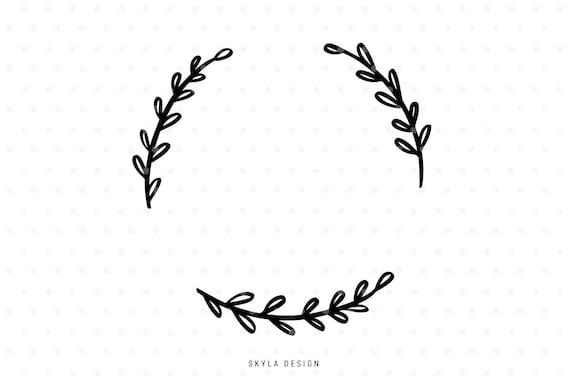 Wreath Svg Cut File Svg Clip Art Leaves Svg Leaves Clipart Etsy