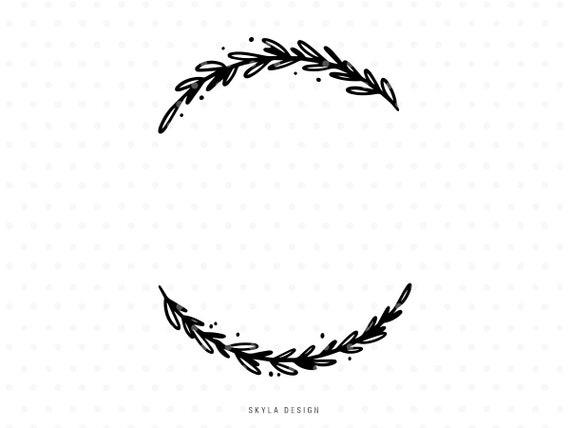 Wreath Svg Leaves Clipart Christmas Svg Clip Art For Cricut Etsy