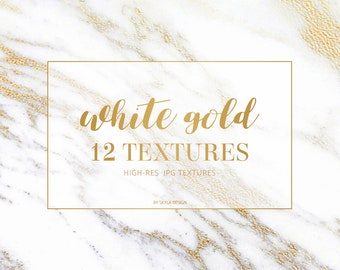 White gold foil marble textures backgrounds
