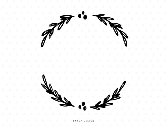 Christmas Holly Silhouette.Christmas Holly Wreath Svg Cut File Leaves Clip Art For Cricut Silhouette