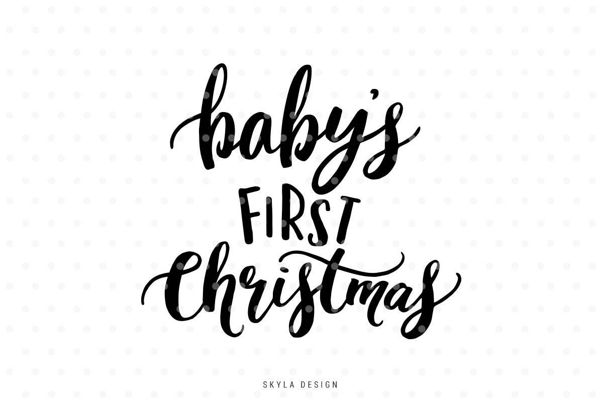 babys first christmas my first christmas christmas svg file christmas clipart baby svg cutfile christmas svg hand lettered svg - Babys First Christmas Photos