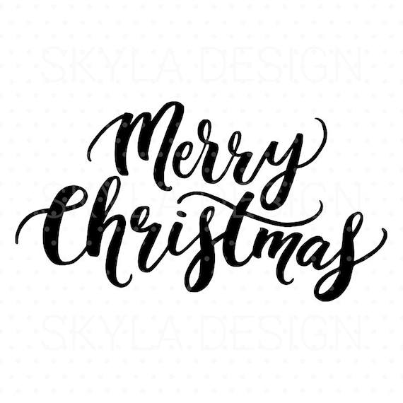 Merry Christmas Images Clip Art.Merry Christmas Svg Christmas Svg File Christmas Clipart Svg Cutfile Hand Lettered Svg Christmas Quote