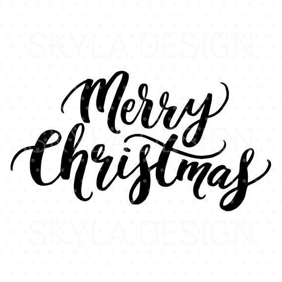 Merry Christmas Svg Christmas Svg File Christmas Clipart Etsy