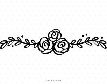 Floral svg cut file, Svg clipart, Flourish Svg, svg cutfile, svg cut file for cricut, silhouette