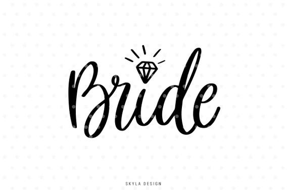 Bride Svg Wedding Svg Svg Clipart Svg Cut Files Married Etsy