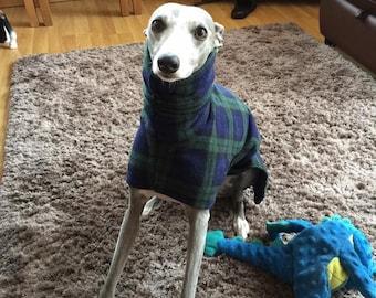 Whippet coat with neck warmer snood fleece jacket  sweatshirt made to order