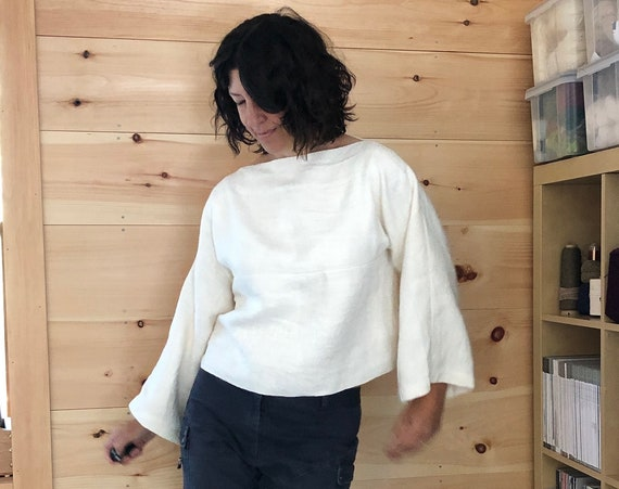 Handwoven Linen and Cotton Top