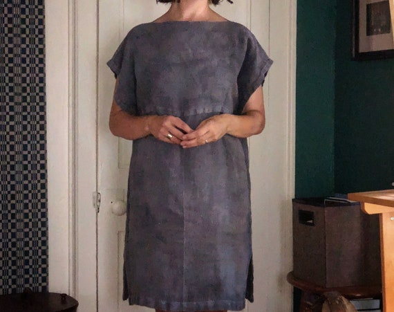 Handwoven, Plant Dyed, Linen Dress