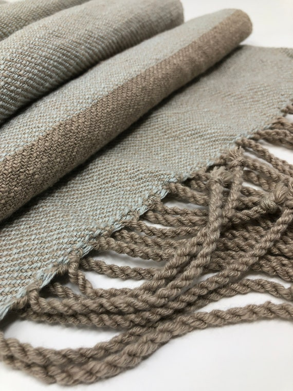 Handwoven Linen and Cotton Scarf