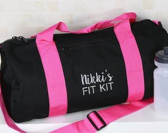 Girls Personalised Name Shoe Bag Football Boot School PE Customised Name Heart