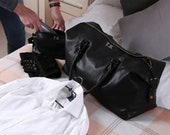 Personalised Vintage Travel Luggage Set - Holdall, Wash Bag, Wash Set Towel Included