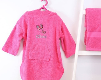 Personalised Girl's Hooded Logo Poncho