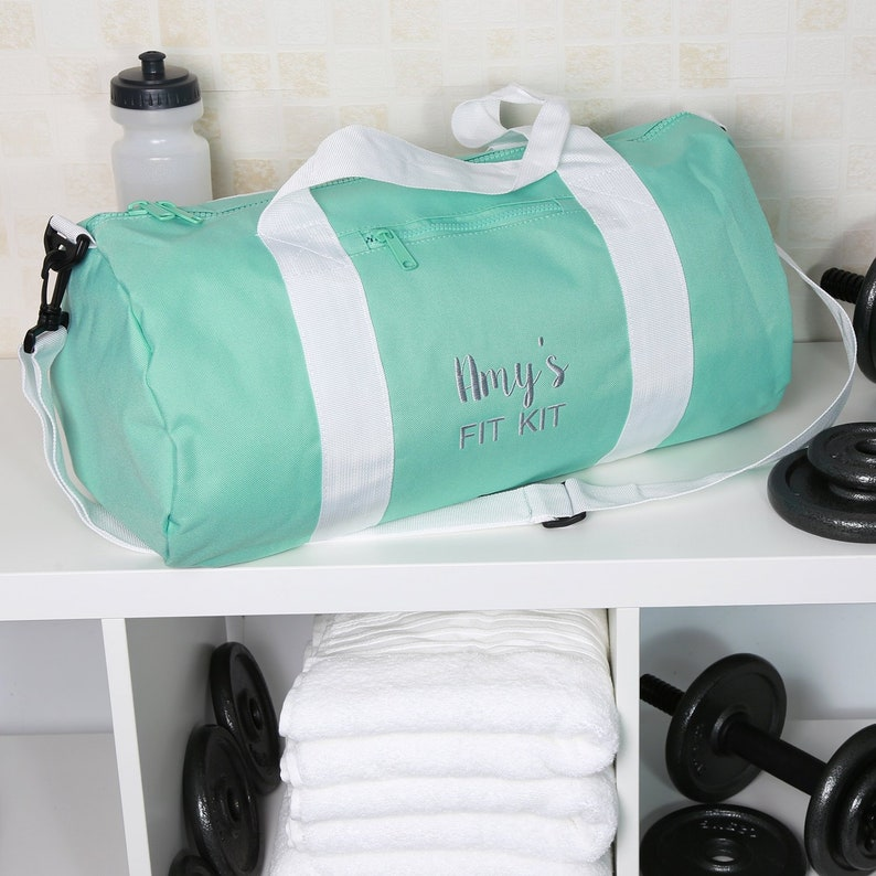 c4f6be7127845d Personalised 'Fit Kit' Gym Bag Embroidered with Name   Etsy