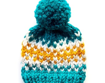 0744687d114 Peacock Nordic Chunky Hat    Custom sizes available