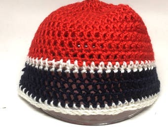 3aecd973a76 Three Color Crocheted Spirit Hat