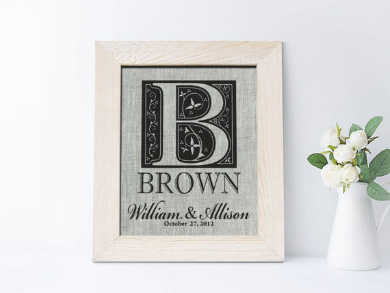 Gifts For 4th Wedding Anniversary: 4th Anniversary Gift Fourth Wedding Anniversary Linen Print