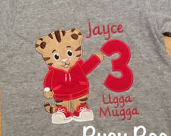Daniel the Tiger Birthday Shirt