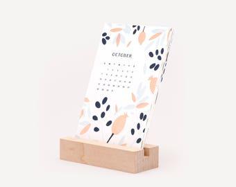 2018 Letterpress Desktop Calendar