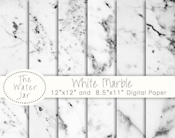Rose Gold Marble Digital Paper White Marble Dusted With Pink Etsy
