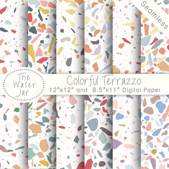 Colorful Terrazzo Digital Wallpaper Designs