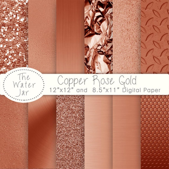 picture relating to Printable Foil Paper named Electronic Rose Copper Foil Paper Pack, Copper Rose Gold electronic Textures For Backgrounds or Wallpaper, Printable Copper Rose Metal Paper