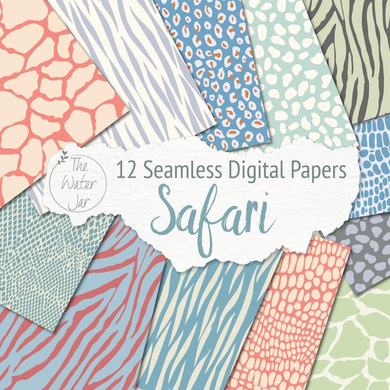Safari Animal Print Digital Paper Pack Animal Skin Printable  d1199dfea