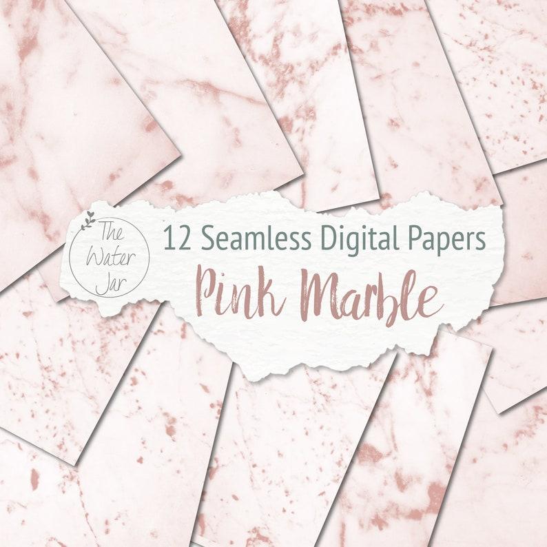 Rosa Marmo Carta Digitale Printable Fondo Di Marmo Rosa Etsy