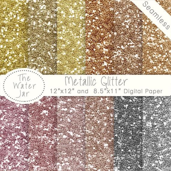digital glitter paper pack seamless glitter metallic gold etsy