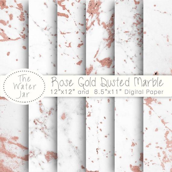 Rose Marbre Numérique Papier Doré Marbre Blanc Saupoudré De Rose Rose Texture Feuille D Or Fond D écran Fond Marbre Numérique Avec De L Or Rose