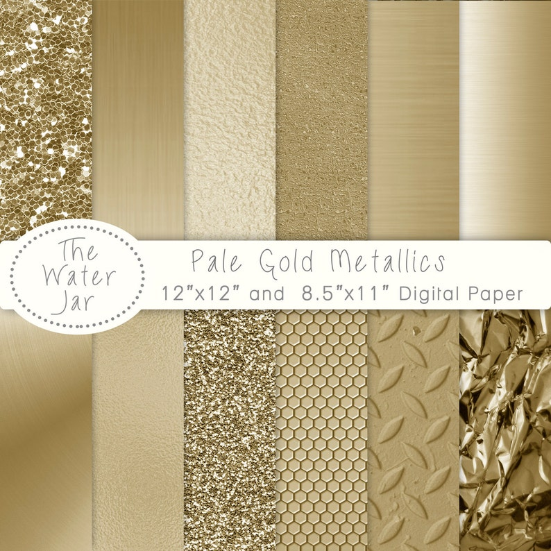 image about Printable Gold Foil Paper named Printable Gold Electronic Paper Pack, Gold Foil and Glitter Textured electronic papers Business Retain the services of Brushed metallic textures.