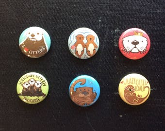Otter Magnets: Set of 6