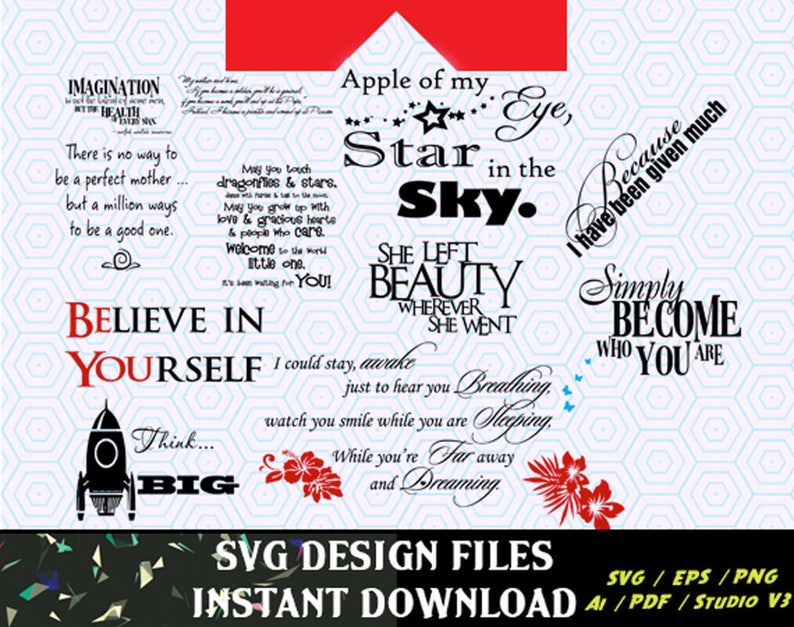 Inspirational Wall Art / Quotes SVG files used for craft cutters and  silhouette cameo, Vinyl Cut Ready SVG Vector Files, T-Shirt Design, etc