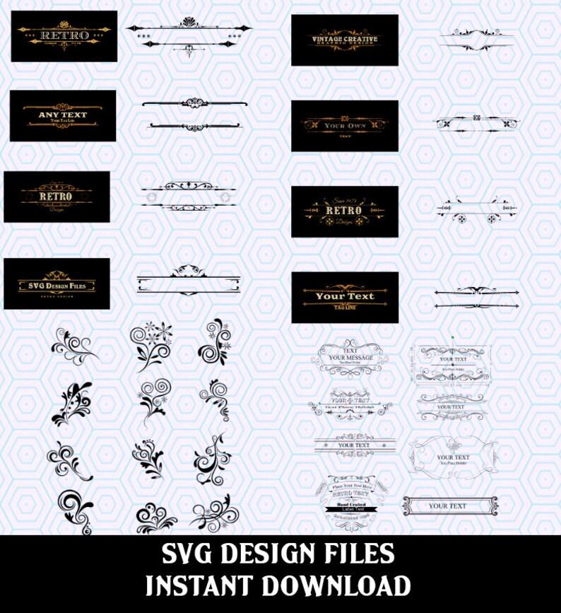 Scroll SVG File Mega Bundle  Collection. SVG Files used for image 0