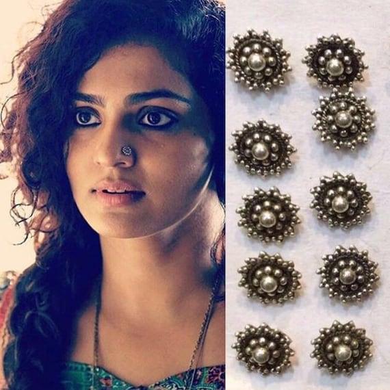 Tribal Nose Ring Indian Nose Pin Boho Nose Ring Indian Nose Etsy
