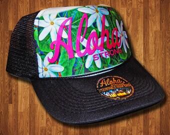 Aloha Strong Tiare Trucker Hat MADE IN HAWAII