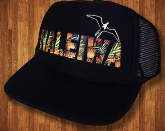 Haleiwa Aloha Strong Hawaiian Haleiwa Pineapple Trucker Hat MADE IN HAWAII