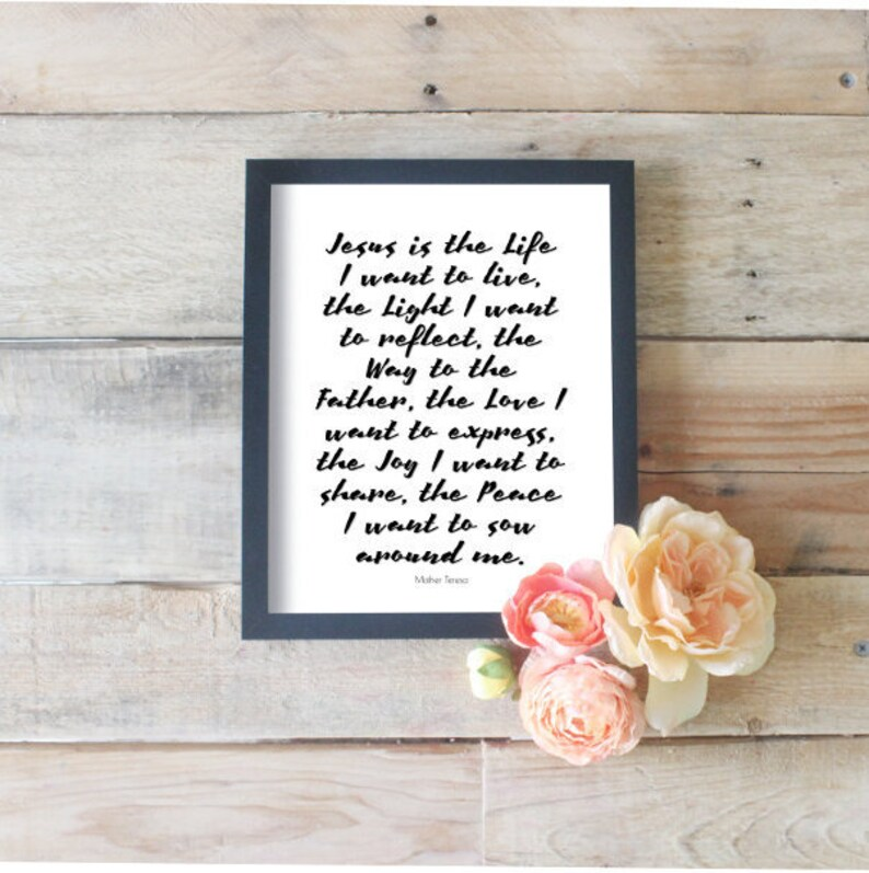 Jesus Is The Life I Want To Live Love Jesus Quotes Religious Etsy