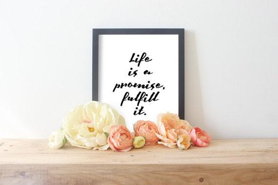 życie Jest Obietnica Spełnić Cytaty Religijne Christian Art Pracy