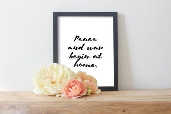 Affiches De Famille Courte Citation Famille Mère Teresa Paix Et La Guerre Commencent à La Maison