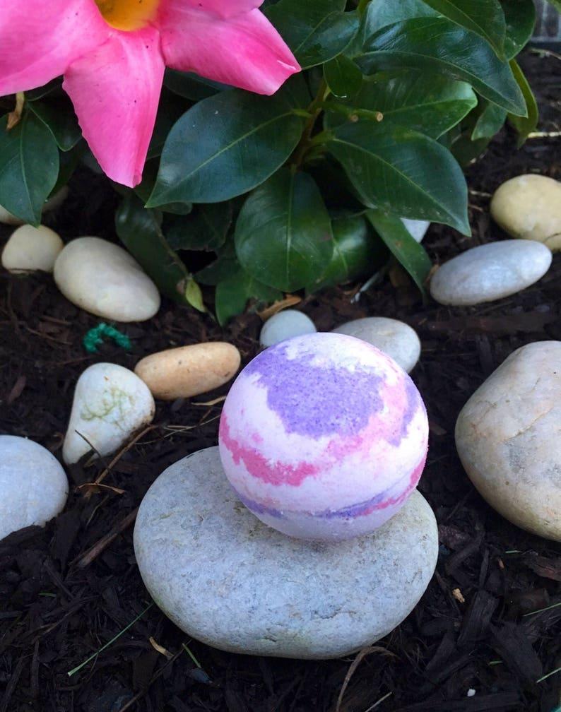 Sacred Lotus Bath Bomb W Pink Purple Swirls 25 Oz Per Bath Etsy