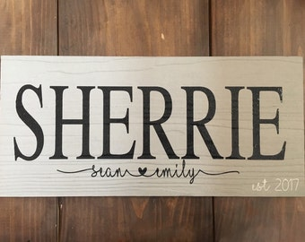 Last Name Established Sign, family sign, Personalized Family sign