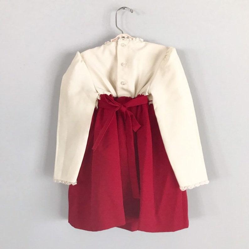 Gorgeous Vintage Royal Embroidered Rose Cream /& Merlot Party Dress Size 5 OSVKC0554