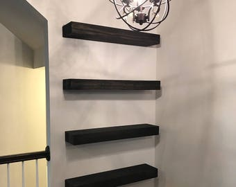 6 depth floating shelf floating shelves rustic rh etsy com diy floating shelves with ledge white floating shelf with ledge