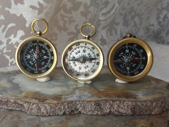 Brass Pocket Compass 35 mm Lot Of 25 Antique Marine Decorative