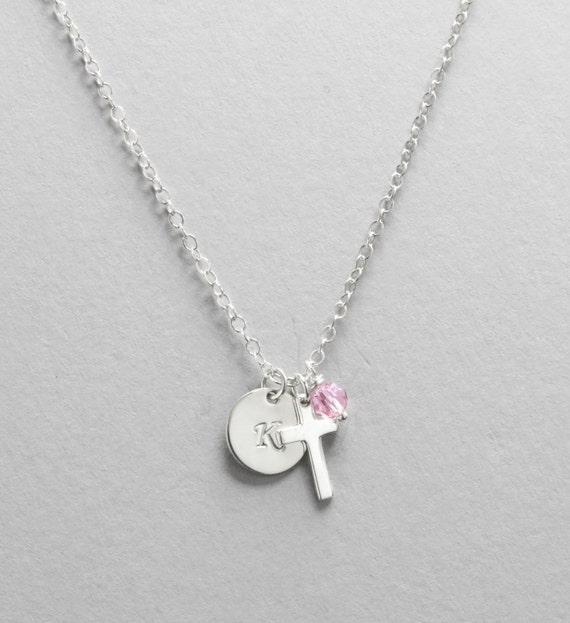 Gott Tochter Geschenk Personalisierte Silber Kreuz Halskette Taufe Kommunion Konfirmation Geschenke Für Kleine Mädchen Geschenk Für Nichte