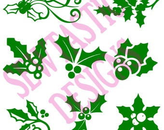 Holly Designs Cut File, Cricut, MTC, SCAL, Silhouette, ScanNCut, SVG