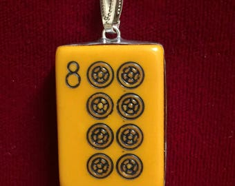 Antique Mah Jong Tile Pendant -- #30,036
