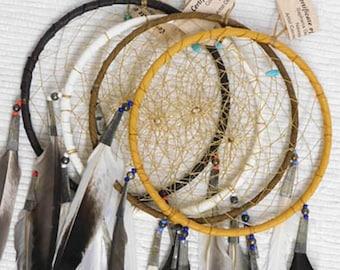 Native American Navajo Made 6 Inch Dreamcatcher--CB17C
